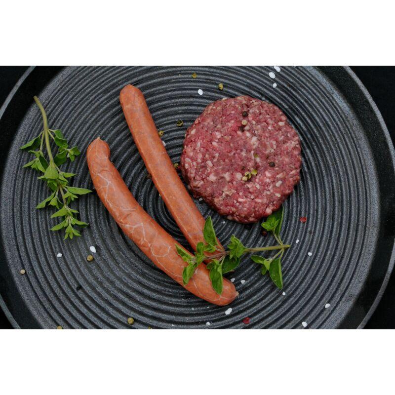 Grillkolbász-hamburger csomag  (2x6 szál + 12 pogácsa) - fagyasztott